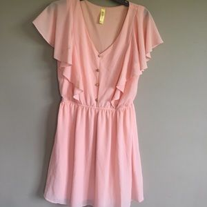 Bee stitched medium pink dress